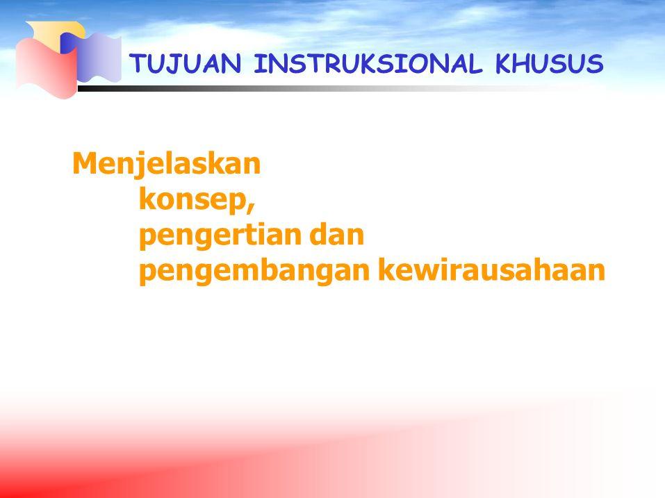 Pengertian Wirausaha Emma Satriaty (2002): Wiraswasta = Wirausaha = Entrepreneur 1.
