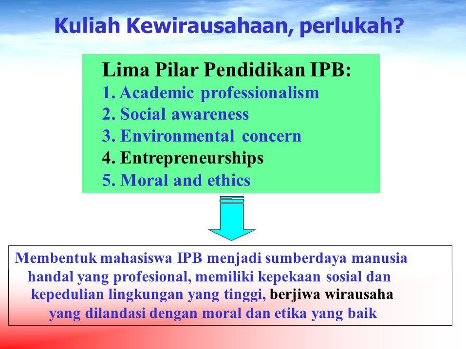 Umumnya, mahasiswa PT dipersiapkan dan mempersiapkan diri untuk kelak bekerja di sektor formal (menjadi pegawai, orang gajian), bukan sebagai pekerja mandiri.