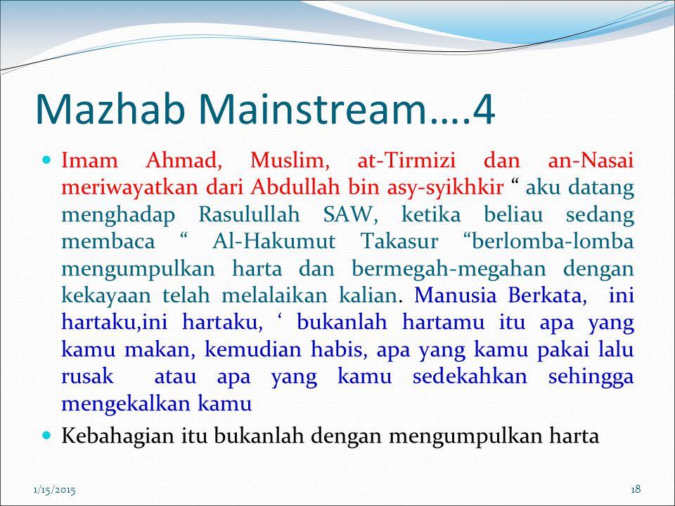 """Mazhab Mainstream….4 Imam Ahmad, Muslim, at-Tirmizi dan an-Nasai meriwayatkan dari Abdullah bin asy-syikhkir """" aku datang menghadap Rasulullah SAW, ke"""