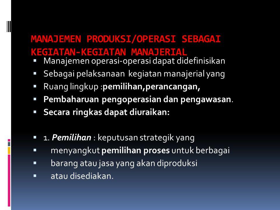 6.Pelihara untuk mengadapi perubahan. 7.Tanggapi permintakan yang terkendali.