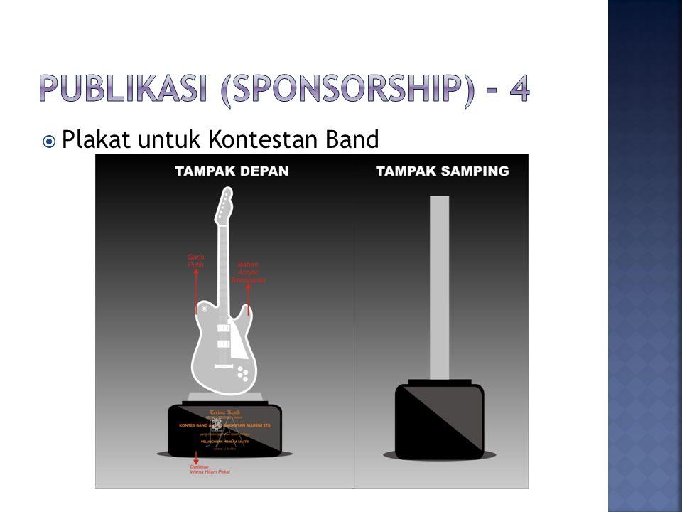 Sponsorship berupa 3 paket pilihan yaitu: Platinum, Gold dan Silver Adapun perincian dan benefitnya adalah: 1.