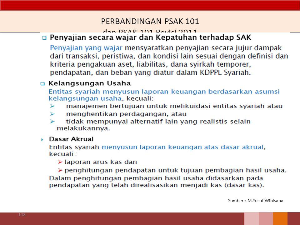 PERBANDINGAN PSAK 101 dan PSAK 101 Revisi 2011 108 Sumber : M.Yusuf Wibisana