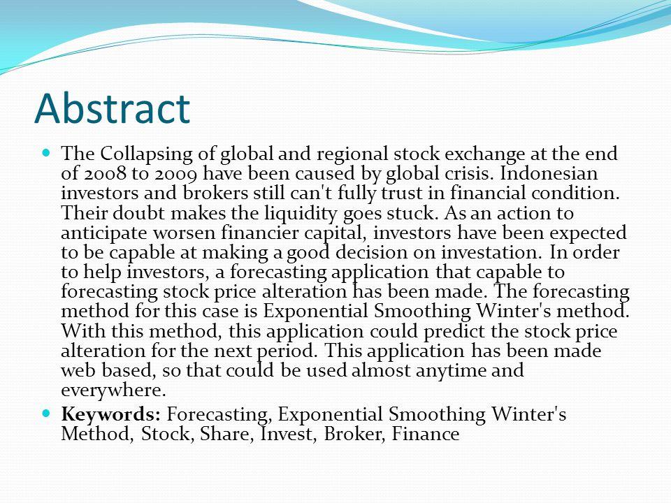 Abstrak Tahun 2009 diprediksi oleh banyak ekonom sebagai tahun yang sulit bagi dunia usaha.