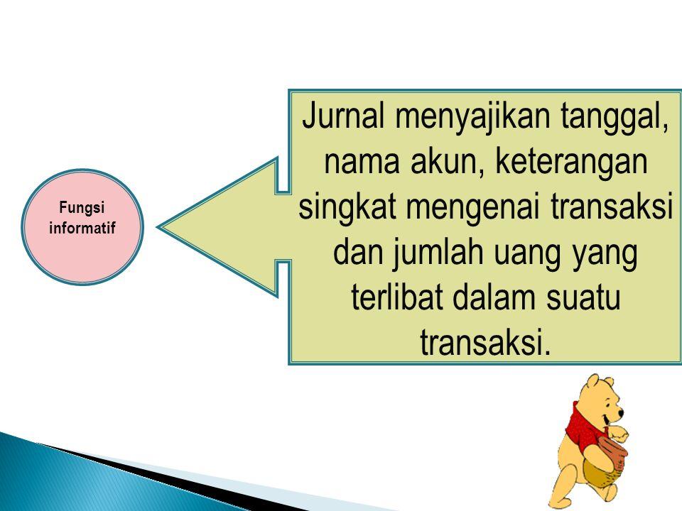 Jurnal merupakan suatu perintah atau instruksi.