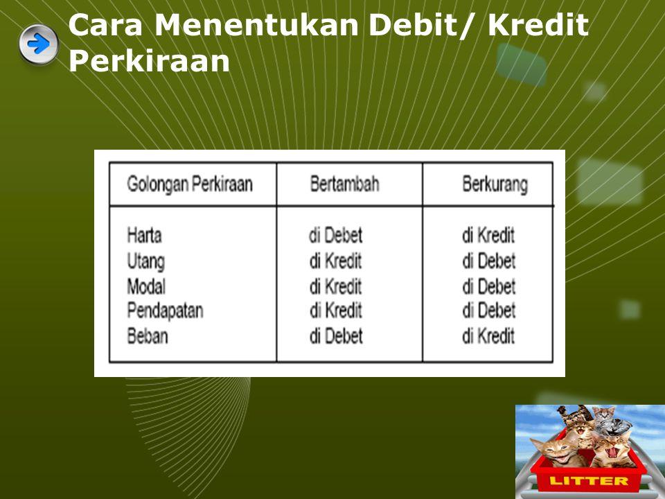 Cara Menentukan Debit/ Kredit Perkiraan
