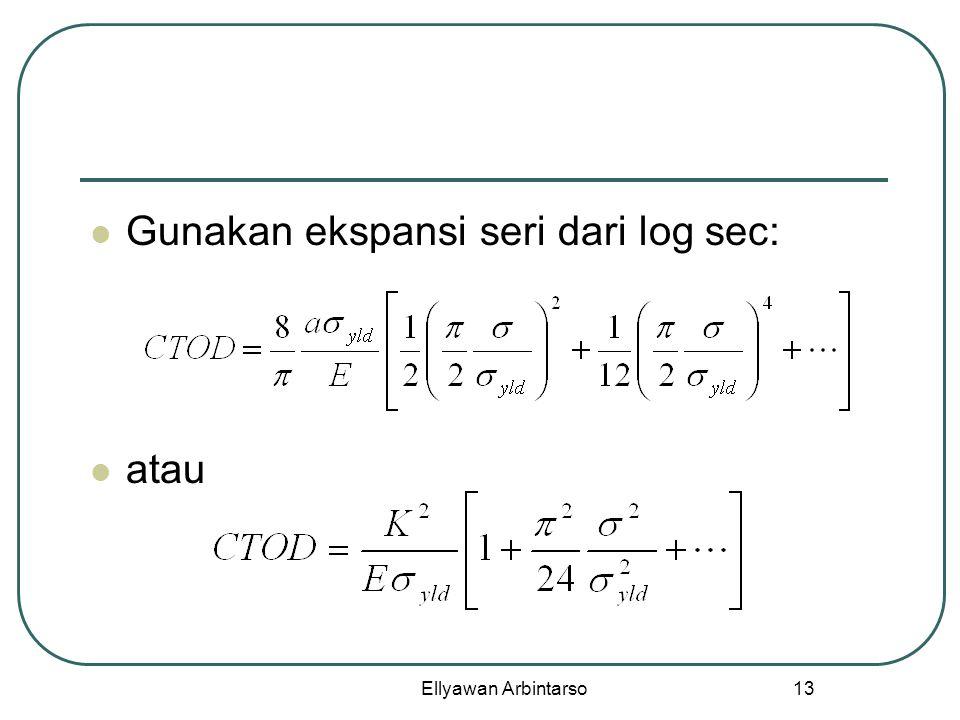 Ellyawan Arbintarso 13 Gunakan ekspansi seri dari log sec: atau