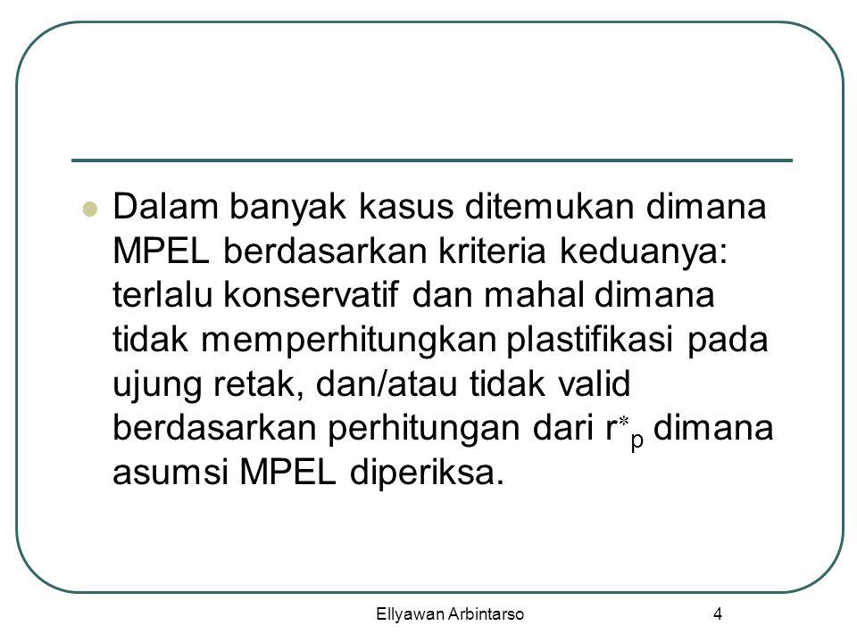 Ellyawan Arbintarso 4 Dalam banyak kasus ditemukan dimana MPEL berdasarkan kriteria keduanya: terlalu konservatif dan mahal dimana tidak memperhitungk