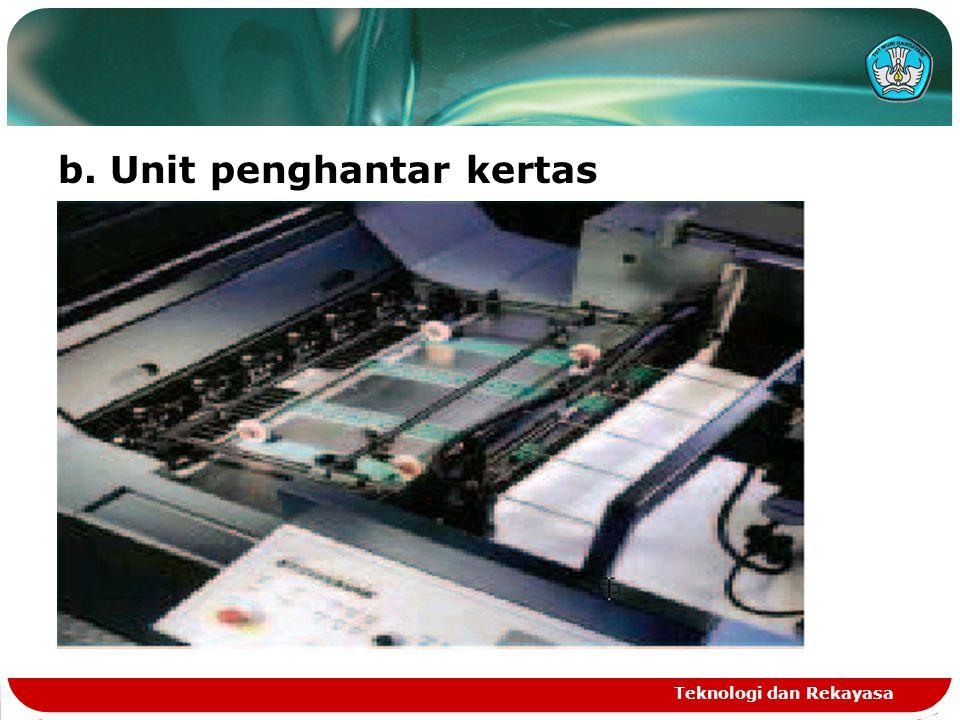 Teknologi dan Rekayasa b. Unit penghantar kertas