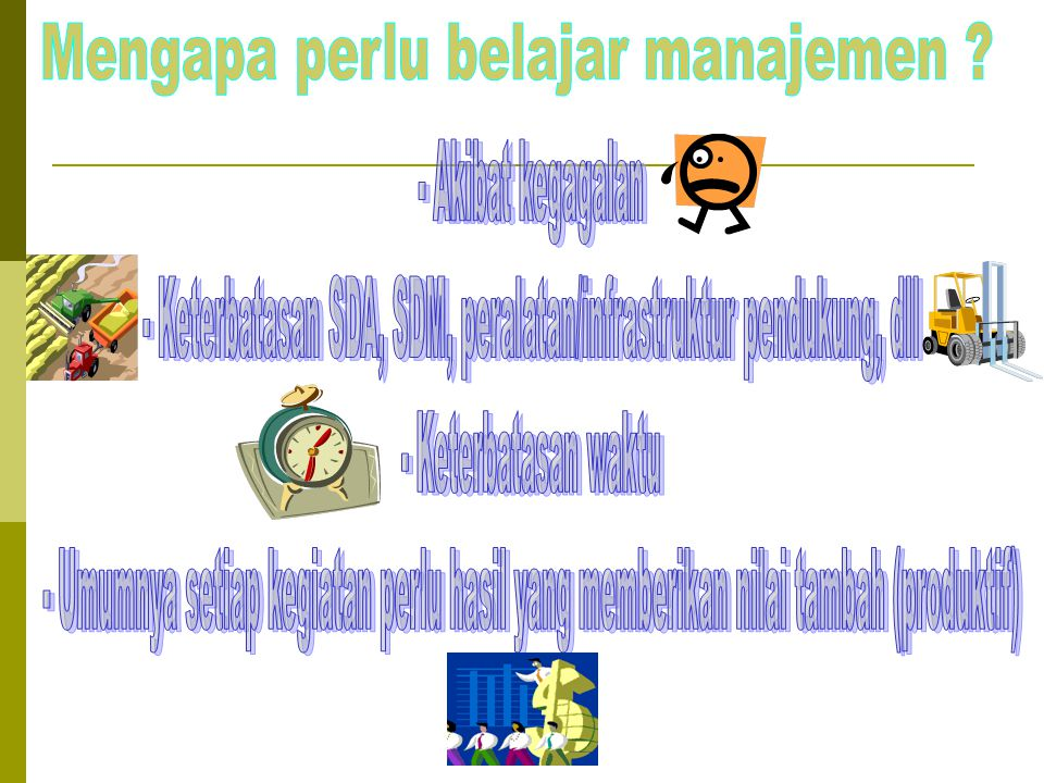 Keterangan/ Contoh IE Matrix IIIIII IVVVI VIIVIIIIX Kuat3,0-4,0Rata-rata2,0-2,99Lemah1,0-1,99 Tinggi3,0-4,0 Sedang2,0-2,99 Lemah 1,0- 12,99 TOTAL SKOR IFE TOTAL SKOR EFE Grow & Build : Strategi Insentif (market penetration, market/product development) atau Strategi Terintegrasi (backward /Forward Integration, Horizontal Integration) Hold & Maintain: Strategi Market penetration, Market/Product development) Harvest or Divestitute