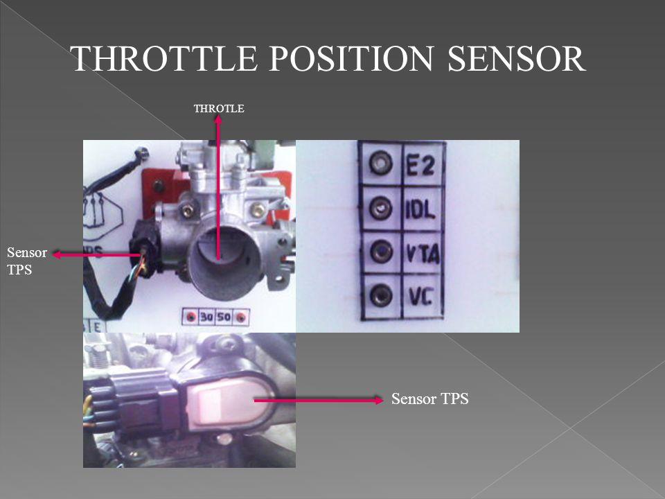 Prinsip kerja TPS adalah pada idle TPS menyensor sudut pembukaan katup throttle dan mengirim sinyal ke ECM agar penyemprotan campuran bahan bakar dan udara dengan jumlah sedikit dan dalam waktu singkat.pada saat pembukaan setengah,TPS menyensor sudut pembukaan throttle sebesar 45 ⁰ dan mengirim sinyal ke ECM agar penyemprotan campuran bahan bakar dan udar dengan memperbanyak jumlahnya dalam waktu yang agak lama supaya tenaga yang di butuhkan seimbang.dan pada saat throttle terbuka penuh maka throttle menyensorkan pembukaan katup sebesar 90 ⁰ dan mengirim sinyal ke ECM agar menyemprotkan campuran bahan bakar dan udara memperbanyakan lagi jumlahnya dan dalam waktu lebih lama lagi supaya bisa mencapai tenaga yang di inginkan.