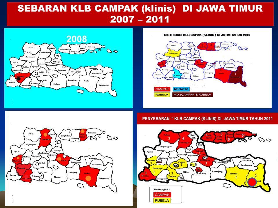 SEBARAN KLB CAMPAK (klinis) DI JAWA TIMUR 2007 – 2011 2008 2009 2008 2010 2011