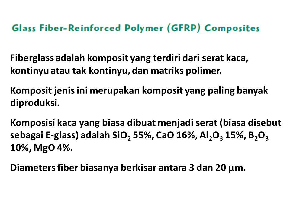 Fiberglass adalah komposit yang terdiri dari serat kaca, kontinyu atau tak kontinyu, dan matriks polimer.
