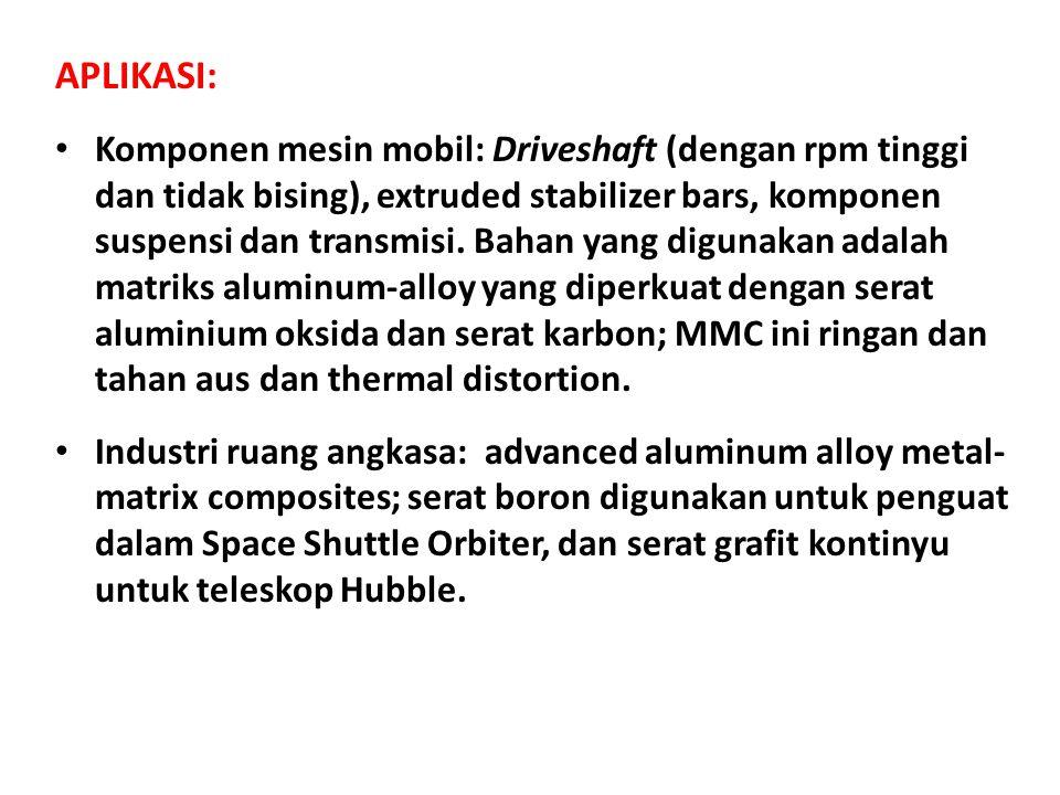 APLIKASI: Komponen mesin mobil: Driveshaft (dengan rpm tinggi dan tidak bising), extruded stabilizer bars, komponen suspensi dan transmisi.
