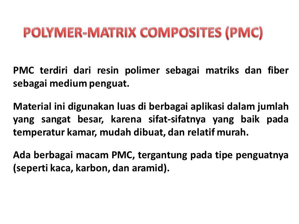 PMC terdiri dari resin polimer sebagai matriks dan fiber sebagai medium penguat.