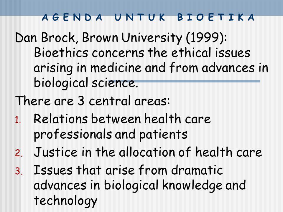 "Tiga ciri khas gerakan bioetika **interdisipliner Bioetika adalah ""meja bundar"" yang menumpulkan berbagai ilmu yang memperhatikan kehidupan (bios): il"