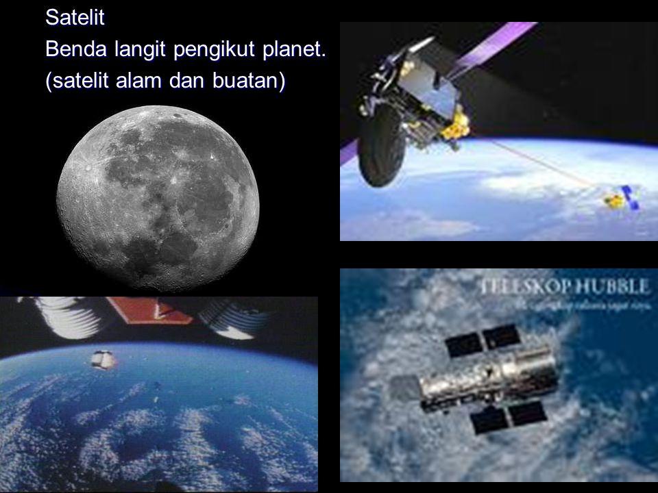 Satelit Benda langit pengikut planet. (satelit alam dan buatan)