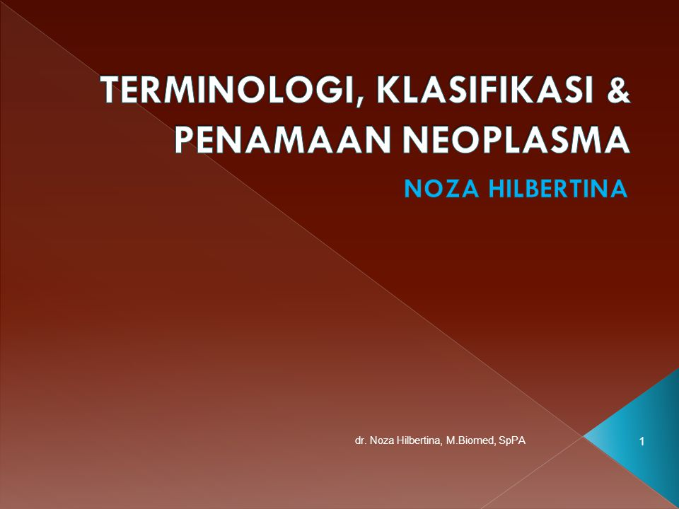 1 dr. Noza Hilbertina, M.Biomed, SpPA