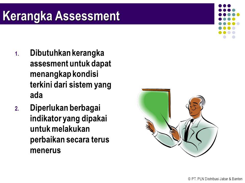 © PT. PLN Distribusi Jabar & Banten Kerangka Assessment 1. Dibutuhkan kerangka assesment untuk dapat menangkap kondisi terkini dari sistem yang ada 2.