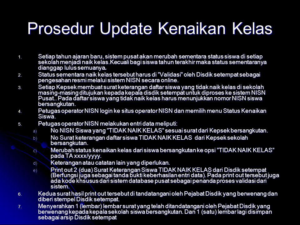 Prosedur Update Kenaikan Kelas 1.