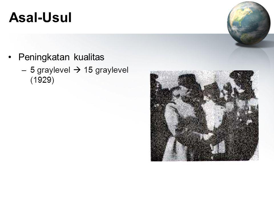 Asal-Usul Peningkatan kualitas –5 graylevel  15 graylevel (1929)