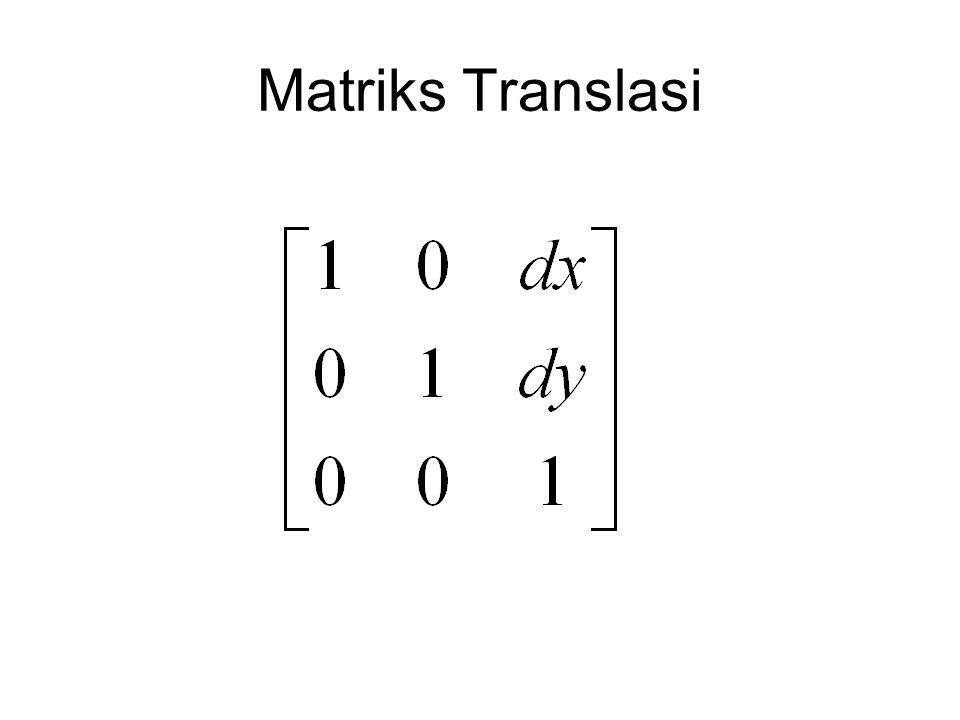 Matriks Translasi