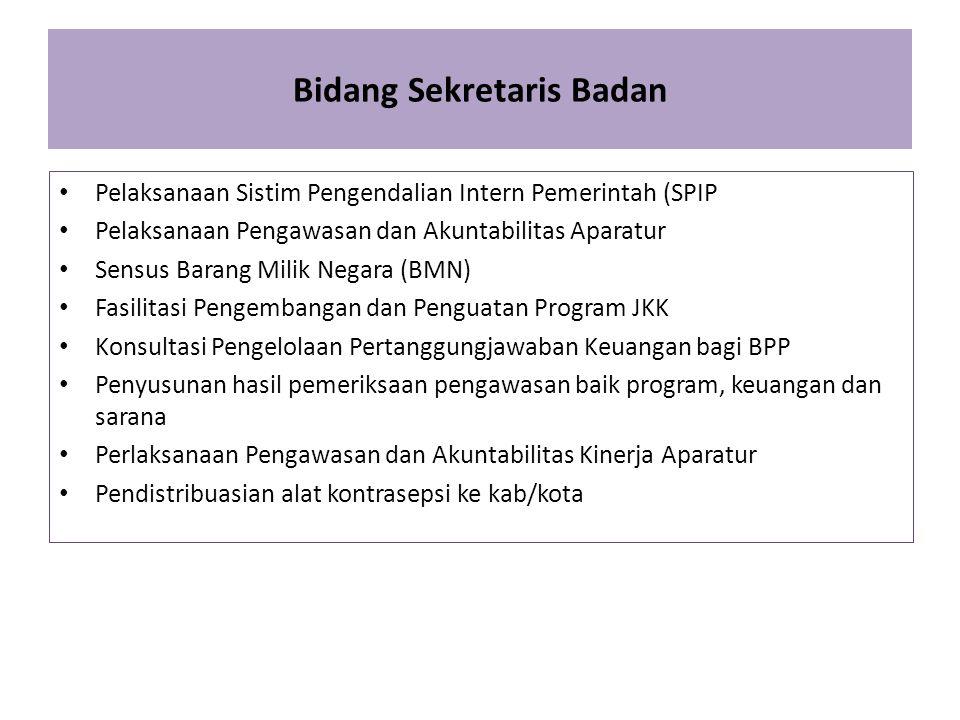 Bidang Sekretaris Badan Pelaksanaan Sistim Pengendalian Intern Pemerintah (SPIP Pelaksanaan Pengawasan dan Akuntabilitas Aparatur Sensus Barang Milik