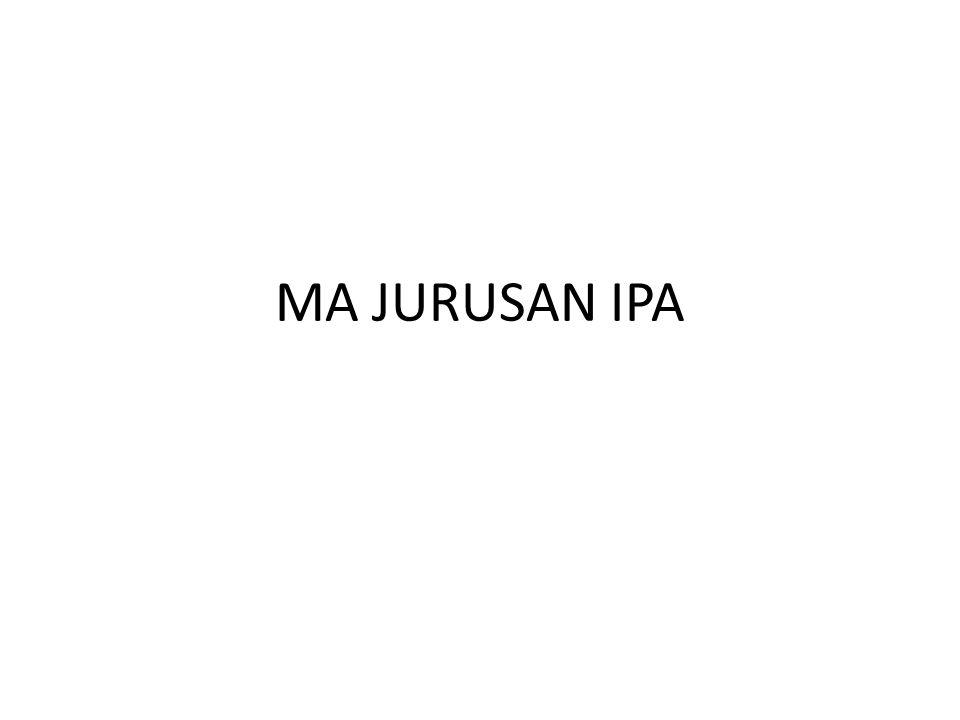 MA JURUSAN IPA