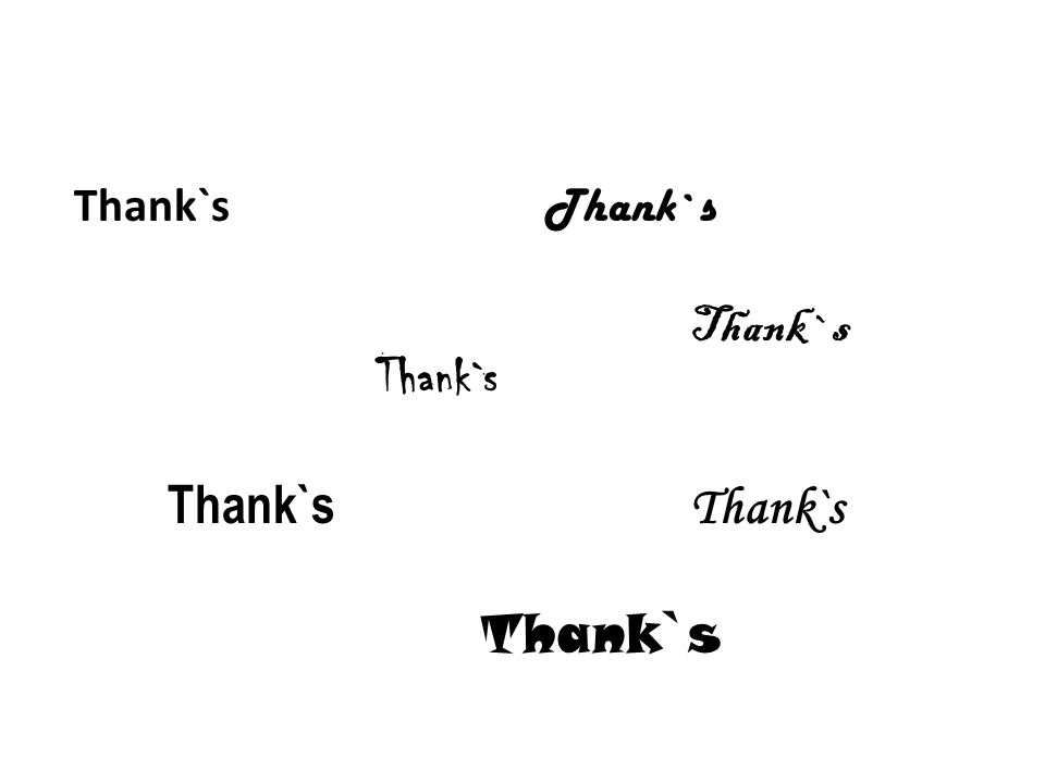 Thank`s Thank`sThank`sThank`s Thank`s