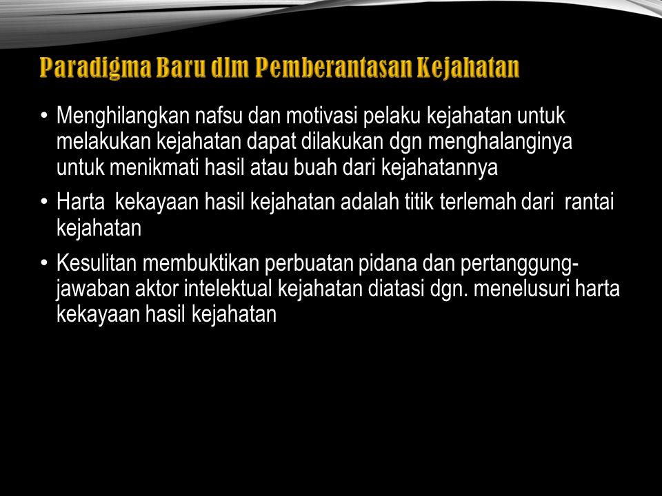 Rumusan ini terdapat dalam pasal 3 ayat (1) Setiap orang yg dgn sengaja : - menempatkan harta kekayaan yg diketahuinya atau patut diduganya merupakan hasil tindak pidana ke dalam penyedia jasa keuangan, baik atas nama sendiri atau atas nama pihak lain - mentransfer harta kekayaan yg diketahuinya atau patut diduganya merupakan hasil tindak pidana dr suatu penyedia jasa keuangan ke penyedia jasa keuangan yg.