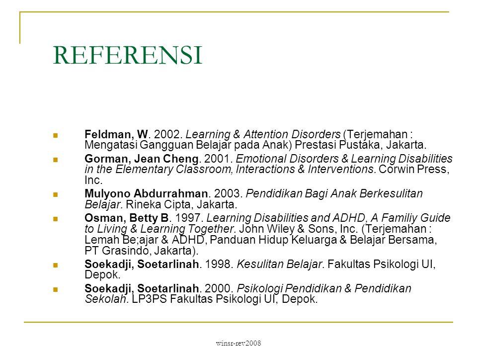 winsr-rev2008 REFERENSI Feldman, W.2002.