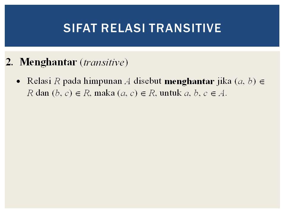 SIFAT RELASI TRANSITIVE