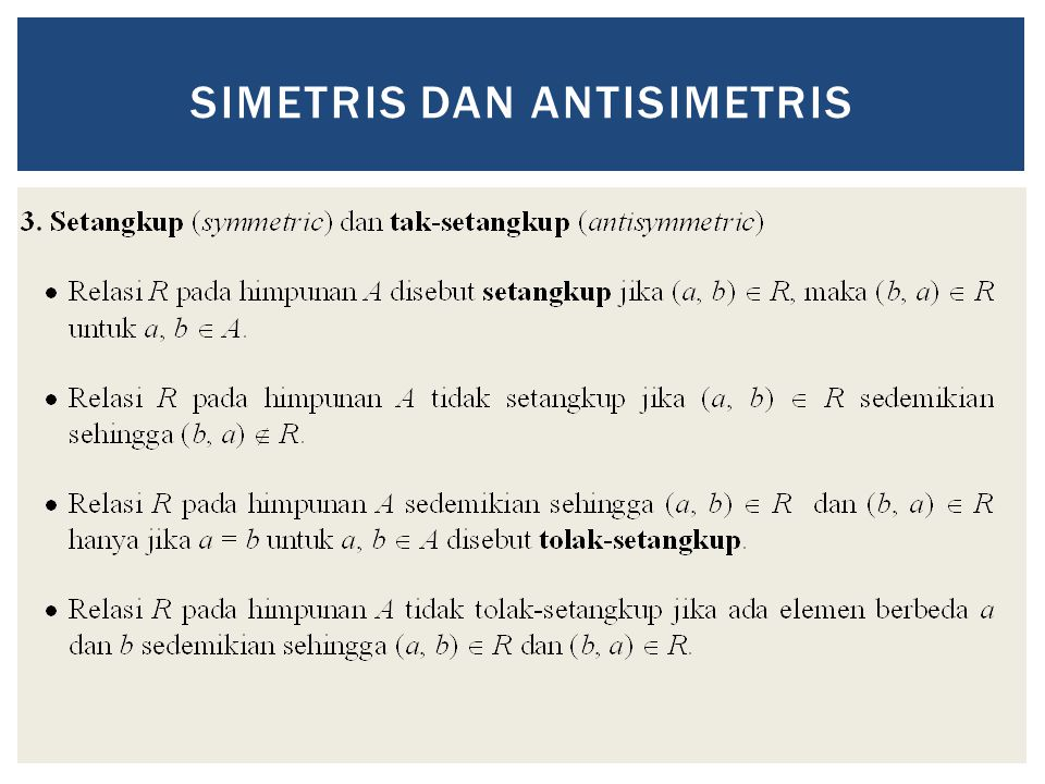 SIMETRIS DAN ANTISIMETRIS