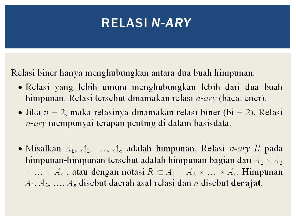 RELASI N-ARY