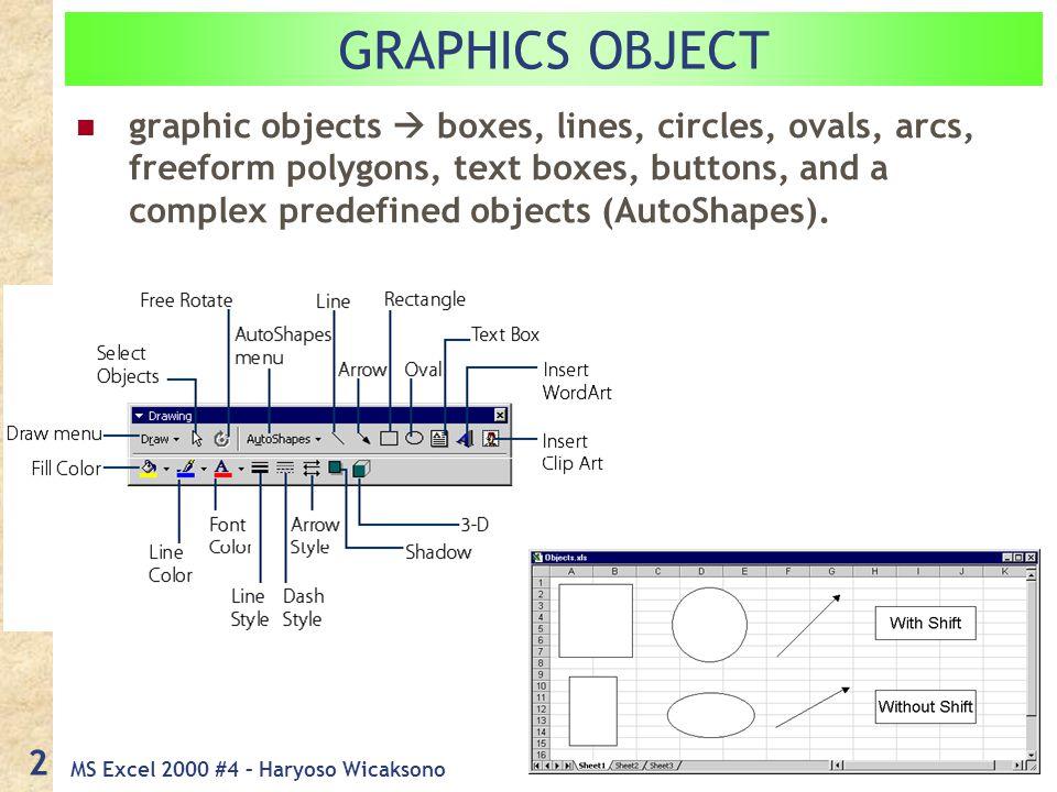 MS Excel 2000 #4 – Haryoso Wicaksono 13 Insert  Chart Step 3: Choosing Chart Options 3.4.
