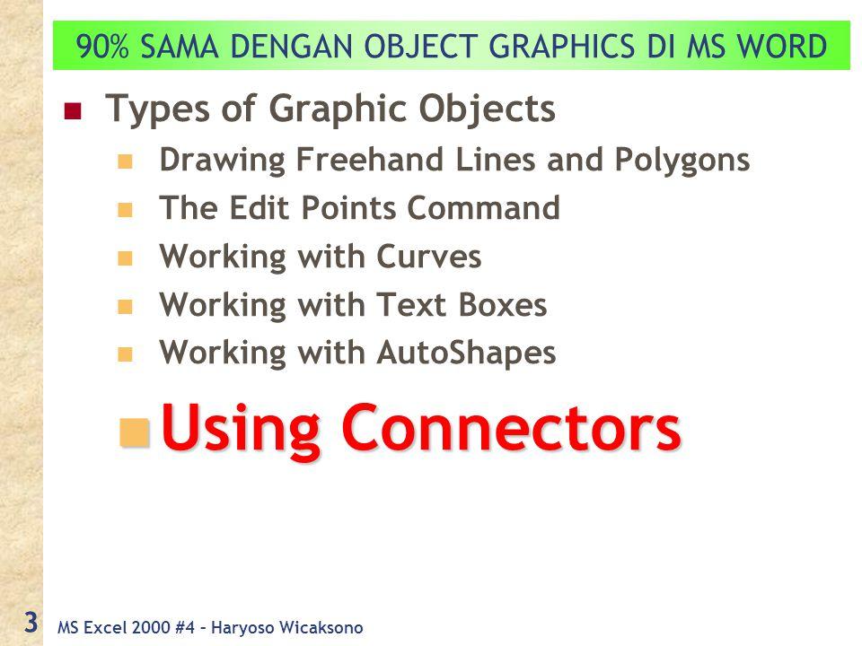 MS Excel 2000 #4 – Haryoso Wicaksono 4 Using Connectors di MS Excel MS Word MS Excel