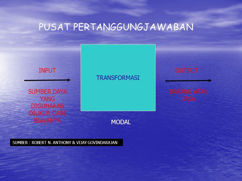 MANFAAT PUSAT PERTANGGUNG JAWABAN 1.