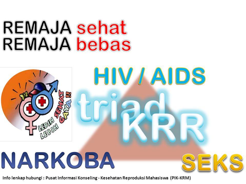 Info lenkap hubungi : Pusat Informasi Konseling - Kesehatan Reproduksi Mahasiswa (PIK-KRM)