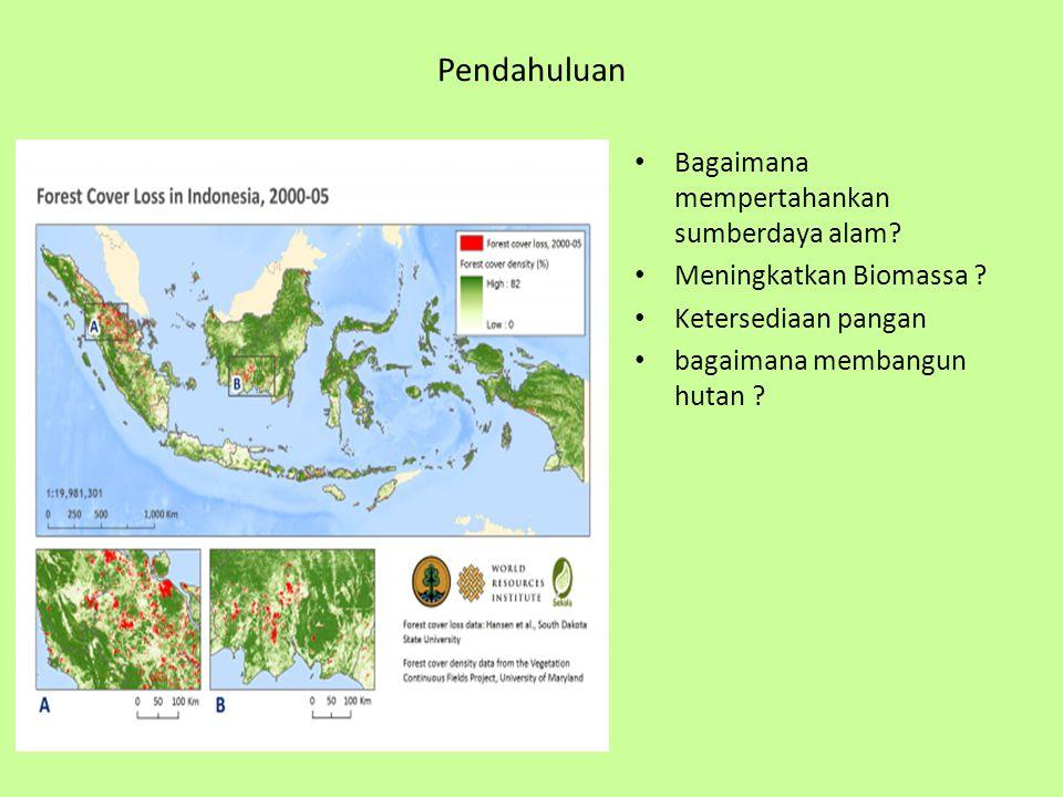 Pendahuluan Bagaimana mempertahankan sumberdaya alam.