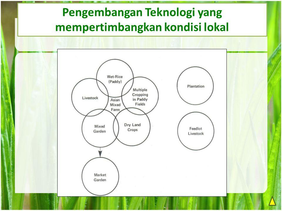 Pengembangan Teknologi yang mempertimbangkan kondisi lokal