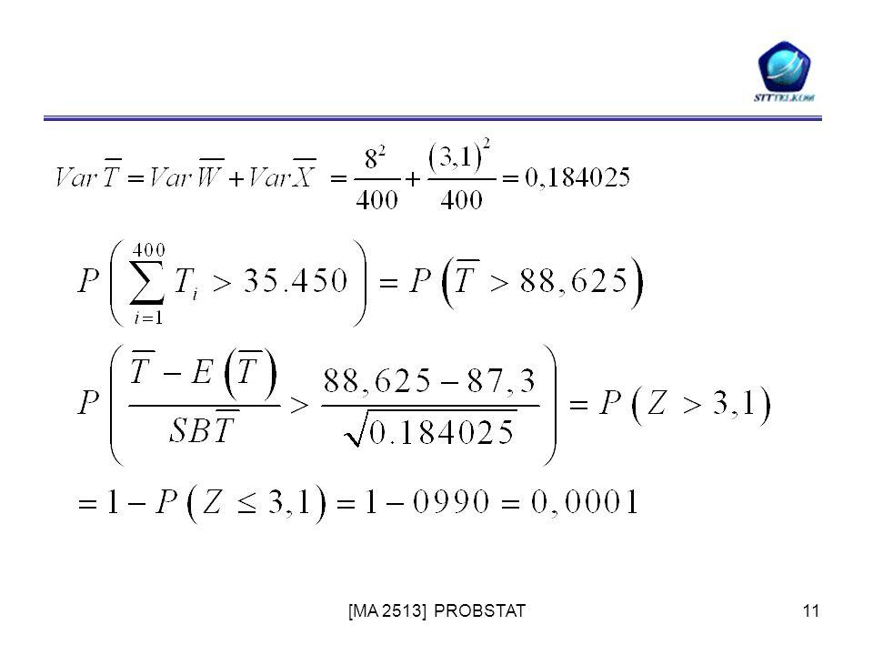 [MA 2513] PROBSTAT11