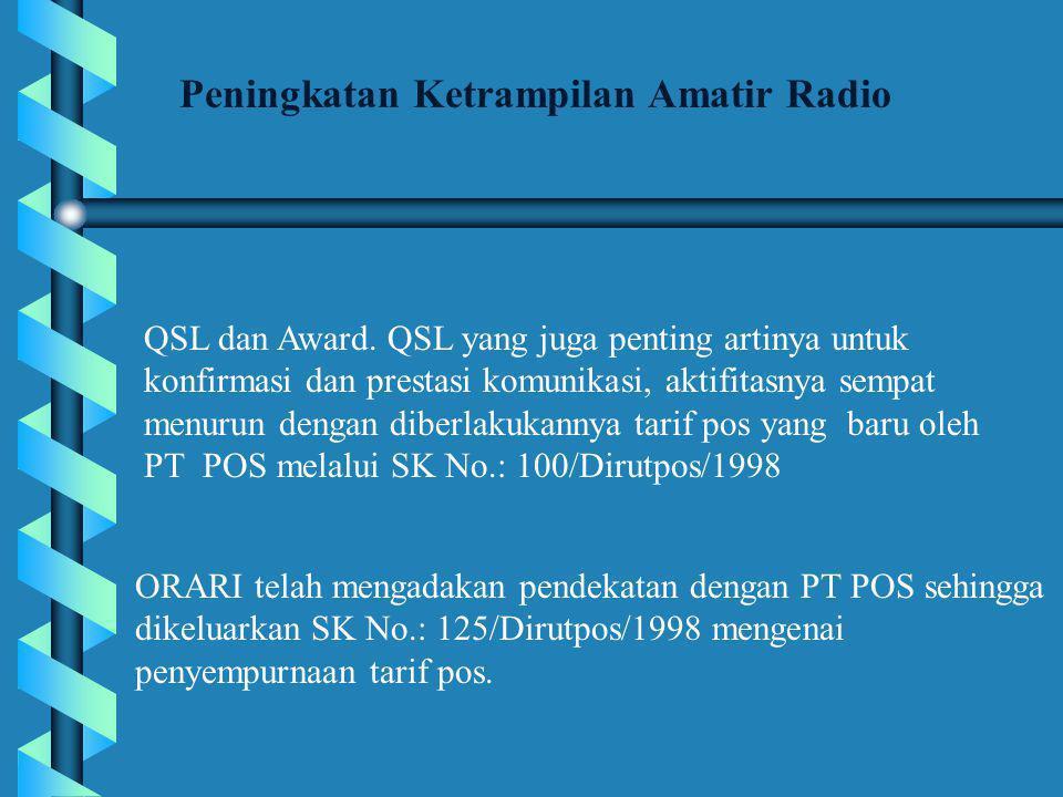QSL dan Award.