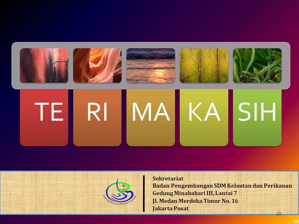 Sekretariat Badan Pengembangan SDM Kelautan dan Perikanan Gedung Minabahari III, Lantai 7 Jl.
