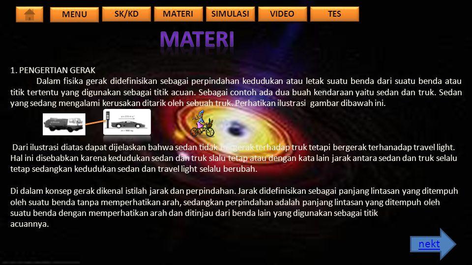 MENU TES VIDEO SIMULASI MATERI SK/KD 2.