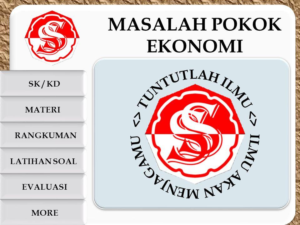 c c SK / KD LATIHAN SOAL MATERI EVALUASI MORE RANGKUMAN MASALAH POKOK EKONOMI