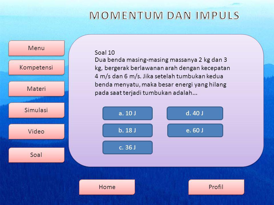 Menu Kompetensi Soal Video Simulasi Materi Profil Home Soal 10 b.