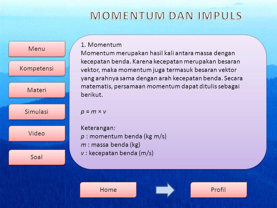 Menu Kompetensi Soal Video Simulasi Materi Profil Home 2.