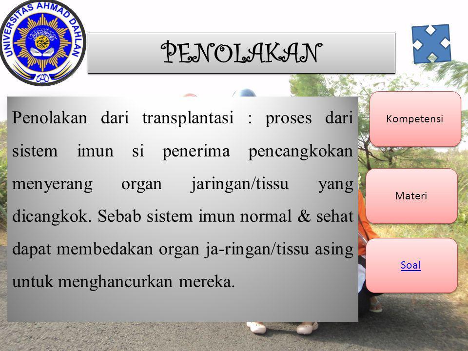 Soal Kompetensi Materi Soal Organ apa yang bisa di transplantasikan..............