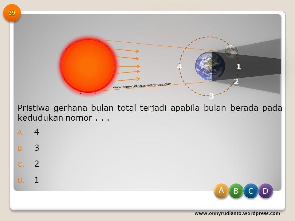 Perhatikan peristiwa yang terjadi di bumi berikut ini! 1) Pergantian musim 2) Gerak semu harian matahari 3) Perbedaan kenampakan rasi bintang 4) Perga