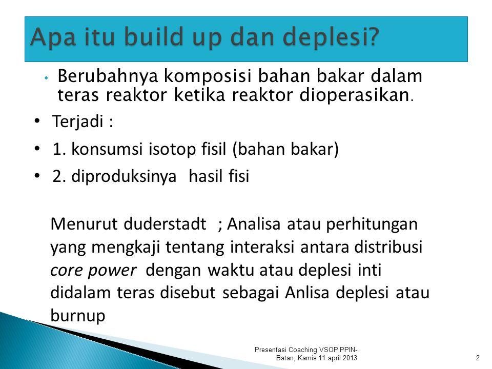  3 Persamaan Diffusi Presentasi Coaching VSOP PPIN- Batan, Kamis 11 april 2013 satu dimensi : FEVER