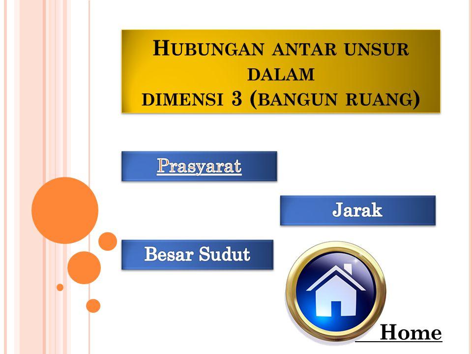 H UBUNGAN ANTAR UNSUR DALAM DIMENSI 3 ( BANGUN RUANG ) Home